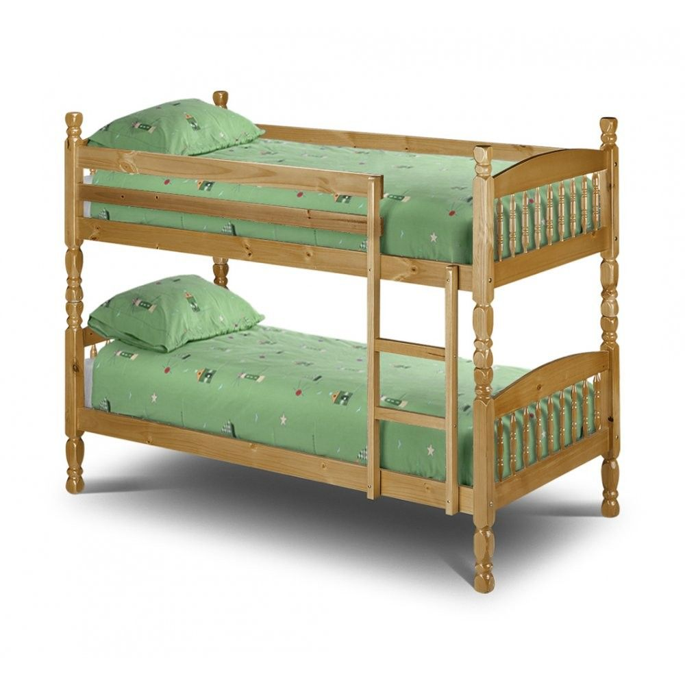 Lincoln 2ft6 small single bunk bed for Single bunk bed