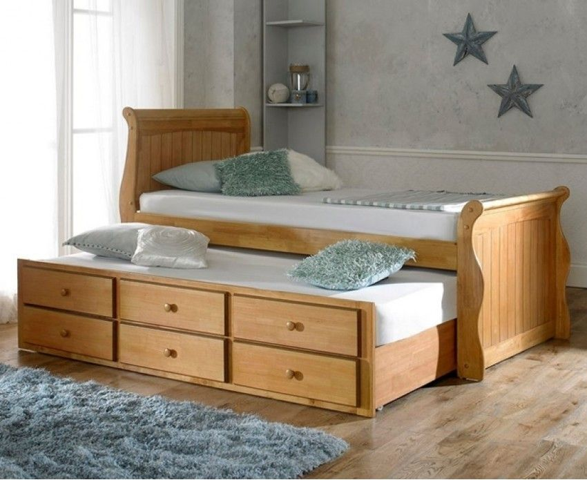 Artisan Oak Captains Wooden Guest Bed with Storage