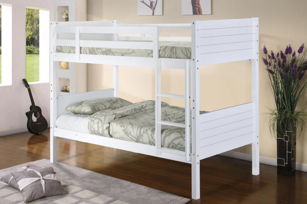 Picture of: Castleton White Wooden Bunk Bed
