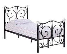 Florence Single 3'0 Bedframe Black