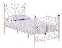 Florence Single 3'0 Bedframe White