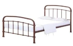 Halston Metal Bedframe Single 4'6 Copper