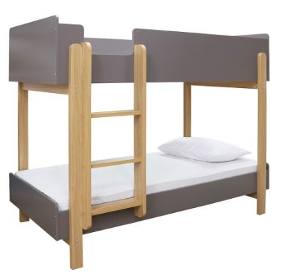 Hero Bunk Bed Grey/Oak