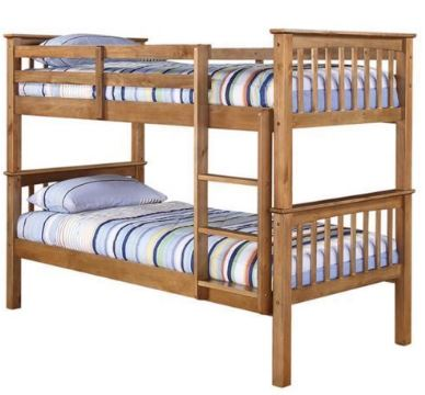 Leo Bunk Bed Antique Wax Pine