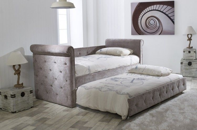 Limelight Beds Zodiac Mink Fabric Single Day Bed - with Trundle